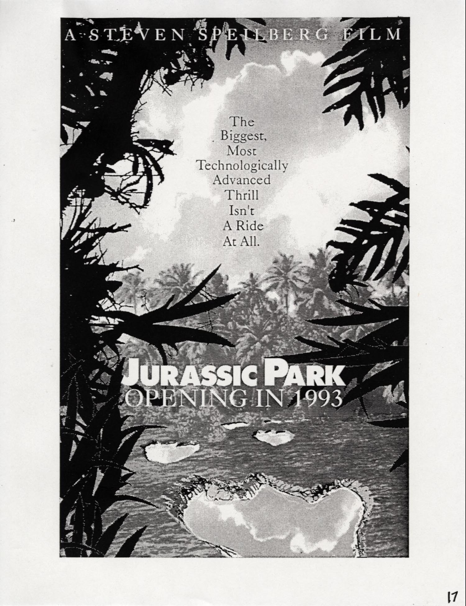 John Alvin   Jurassic Park poster   7 Exclusive: Over a Dozen Never Before Seen Jurassic Park Posters From Famous Artist John Alvin