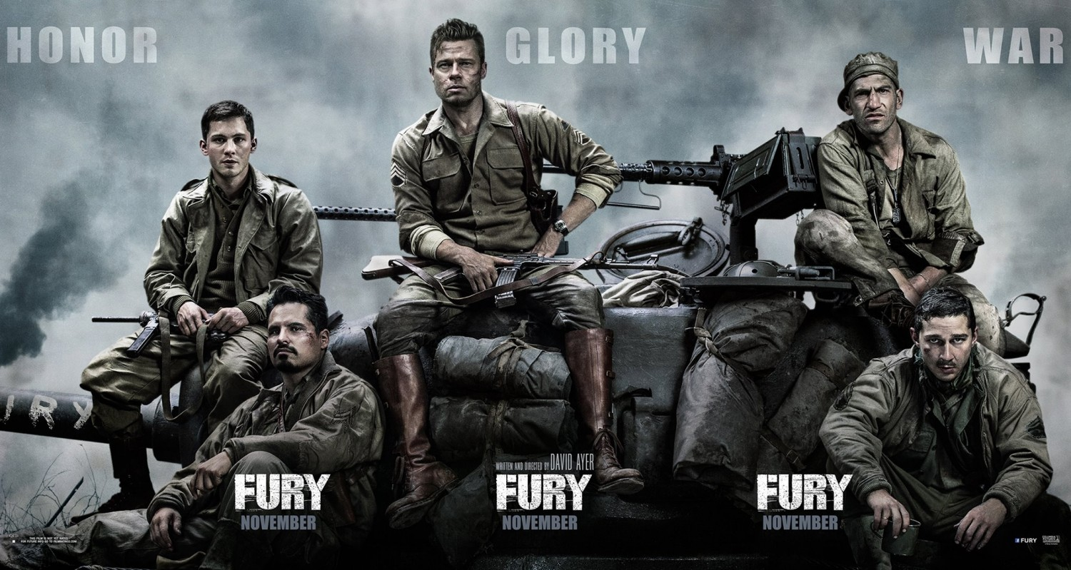 fury ver2 xlg New Release Dates: Godzilla 2, Fury, American Sniper, Point Break and More Move Around