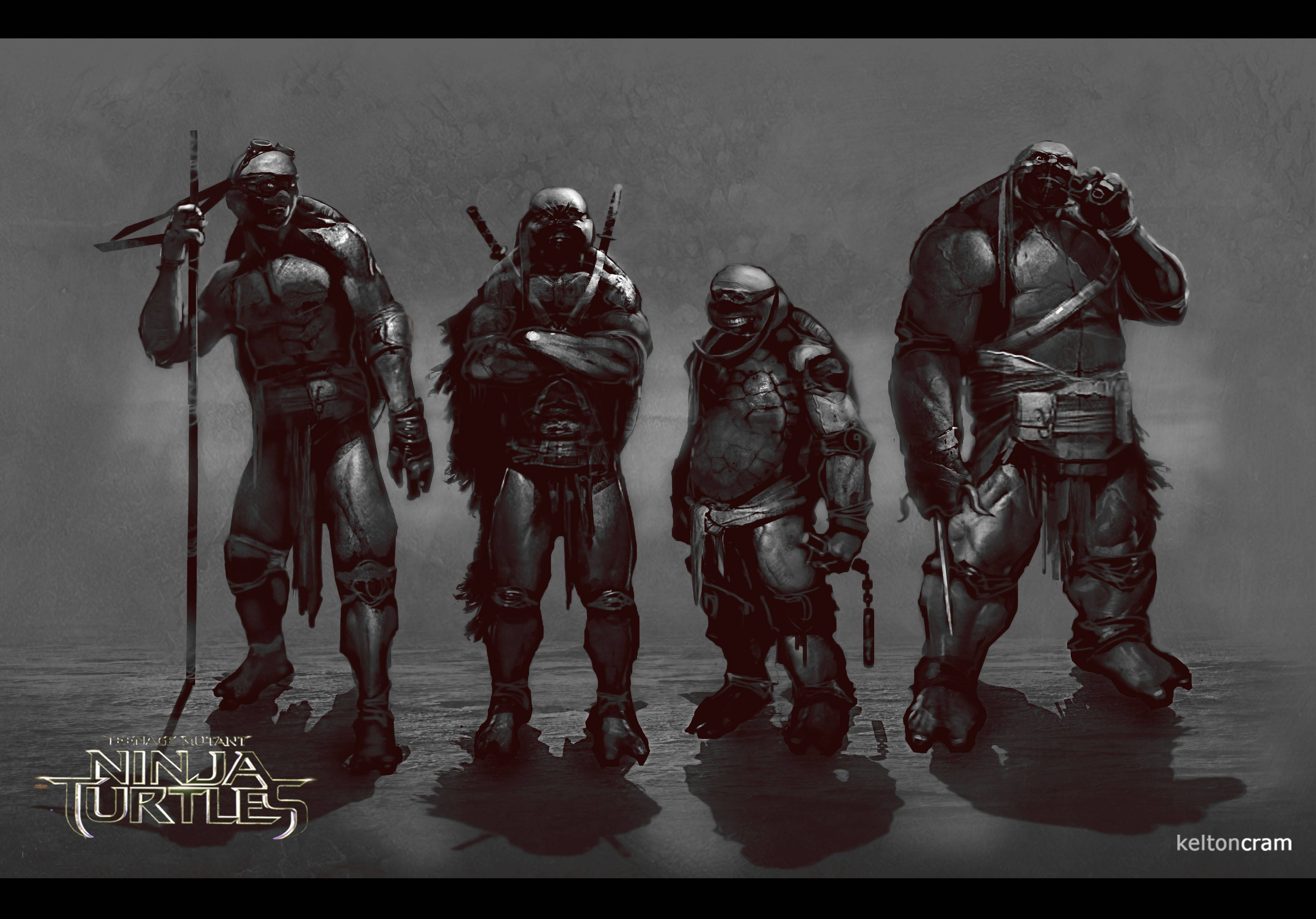 tmntcon1 See What Shredder and the Ninja Turtles Almost Looked Like In the New Movie