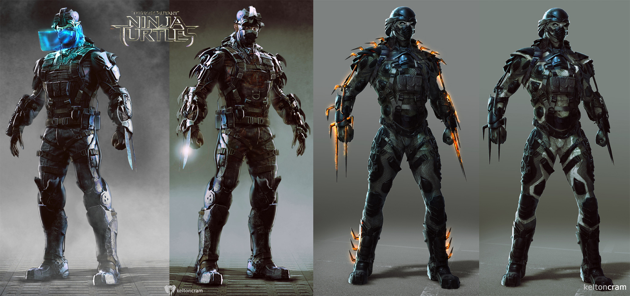 tmntcon2 See What Shredder and the Ninja Turtles Almost Looked Like In the New Movie