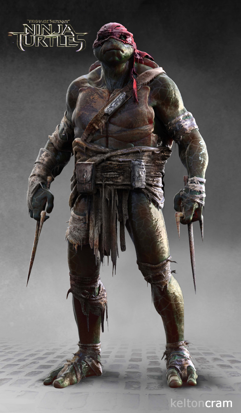 see what shredder and the ninja turtles almost looked like