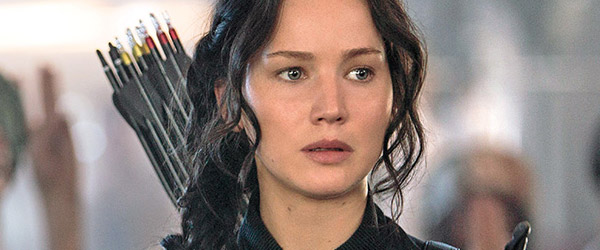 Jennifer Lawrence in The Hunger Games: Mockingjay, Part 1