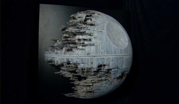 Star Wars Death Star model screen