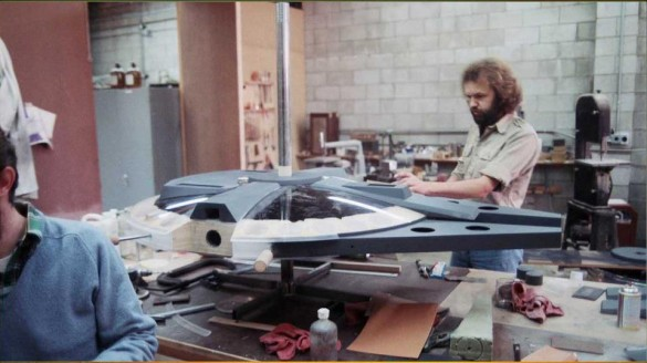 Star Wars Millennium Falcon model prototype
