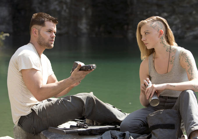 Castor and Cressida in The Hunger Games: Mockingjay - Part 1