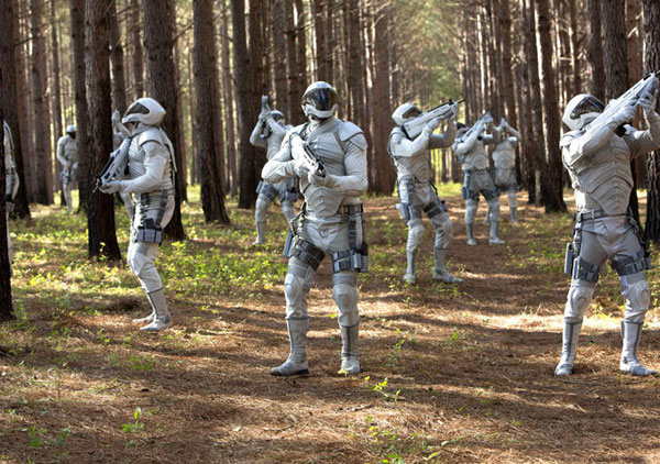 Peacekeepers in in The Hunger Games: Mockingjay - Part 1