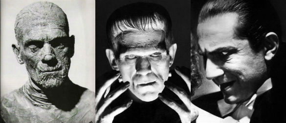 The Mummy / Frankenstein / Dracula