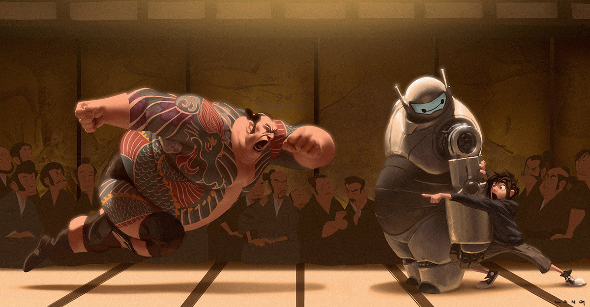 Big hero 6 concept art see what baymax almost looked like movie