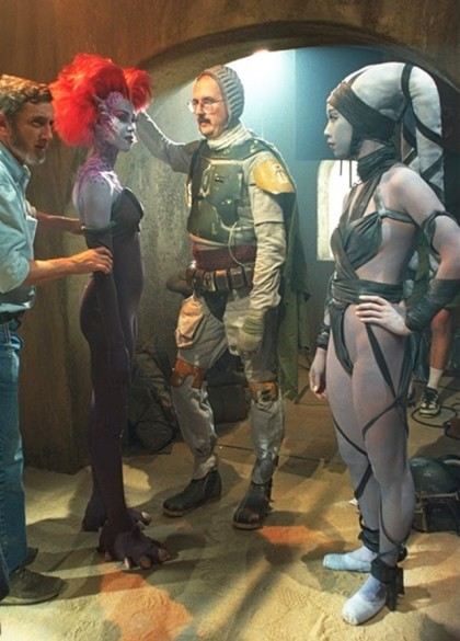Boba Fett unmasked behind the scenes