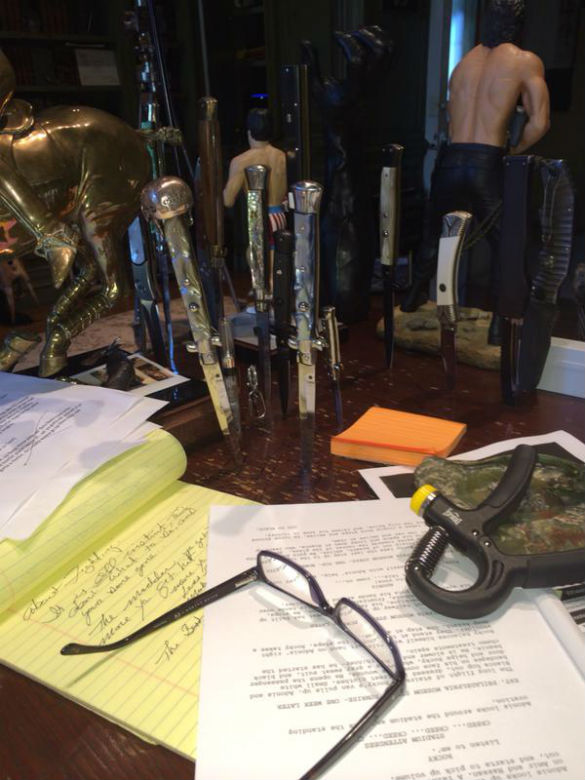 Sylvester Stallone's writing desk