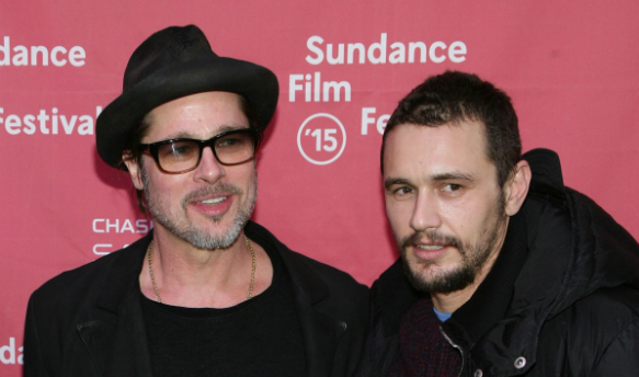 Brad Pitt and James Franco at Sundancd 2015 for 'True Story'