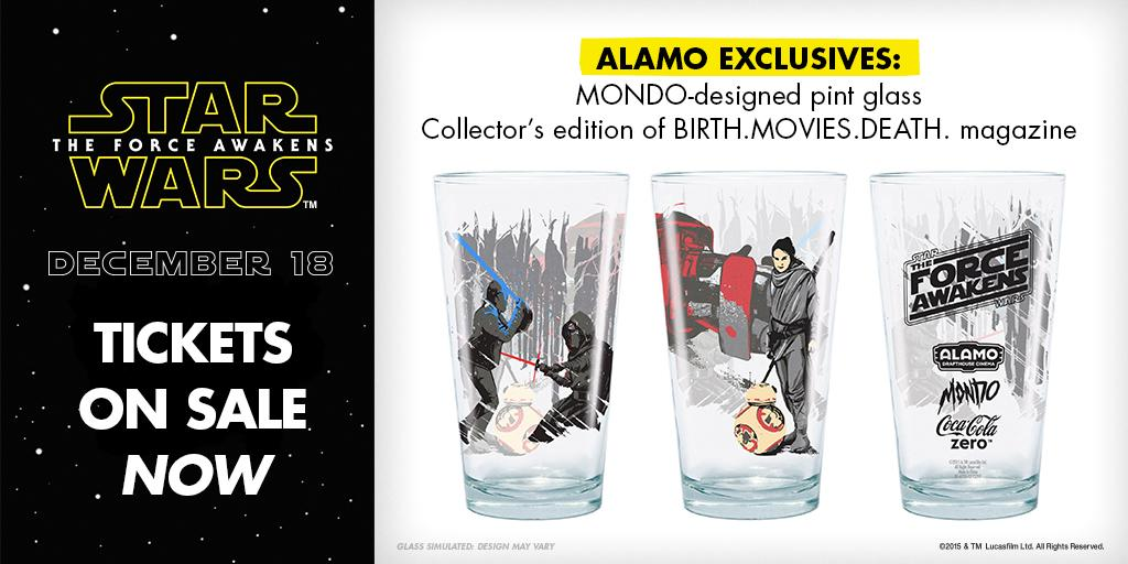 Force Awakens pint glass mondo