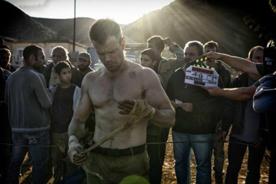 Matt Damon on location for 'Bourne 5'