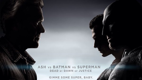 Today in Movie Culture: Ash v Batman v Superman Poster, 'Jurassic Park' as a Disneynature Documentary and More | Movie News | Movies.com
