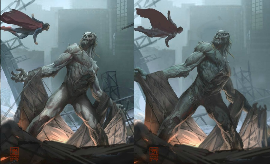 see what doomsday almost looked like in batman v superman dawn of