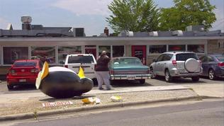 Jackass Presents: Bad Grandpa: Irving Drives His Car Into A Penguin Statue
