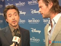 Exclusive: The Avengers - Robert Downey Jr. and Chris Hemsworth Interview