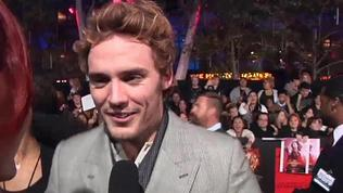 Exclusive: The Hunger Games: Catching Fire - Premiere - Sam Claflin and Jena Malone