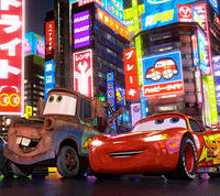 Mater and Lightning McQueen in Japan.