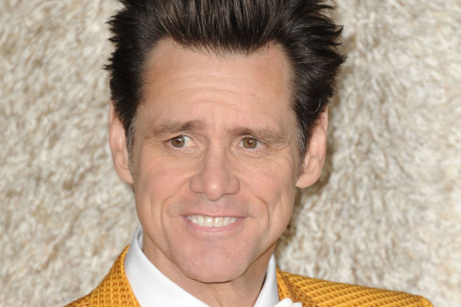 Jim Carrey at Dumb and Dumber To premiere