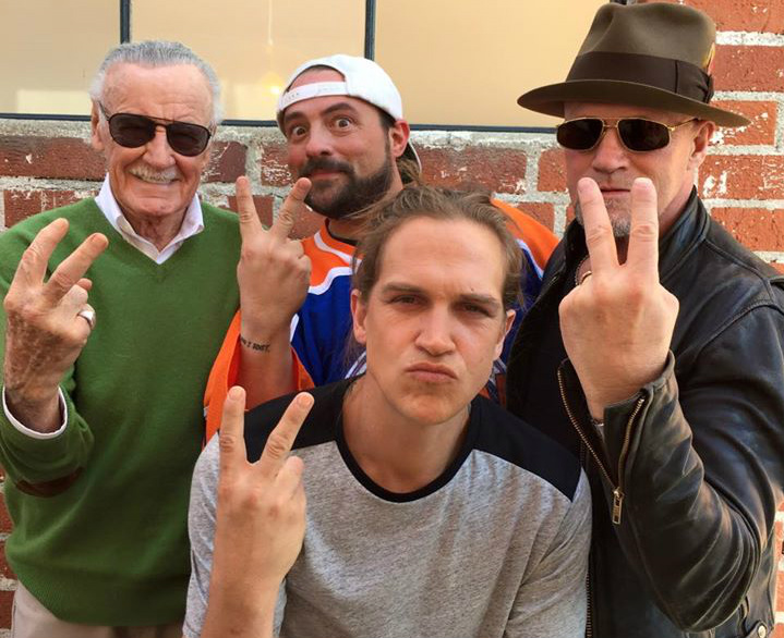 Stan Lee, Kevin Smith, Jason Mewes, Michael Rooker