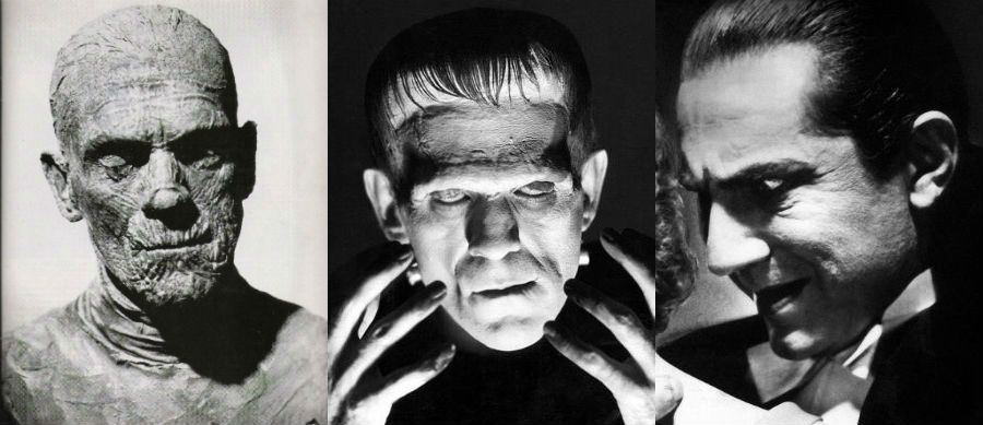 The Mummy / Frankenstein / Dracula
