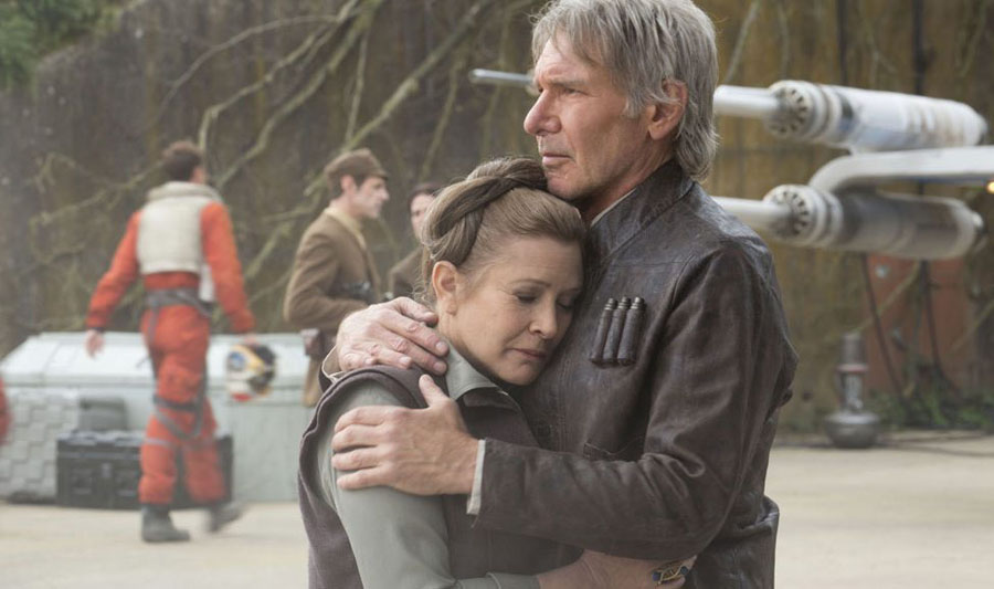 Star Wars: The Force Awakens Han Solo Leia Organa Harrison Ford Carrie Fisher