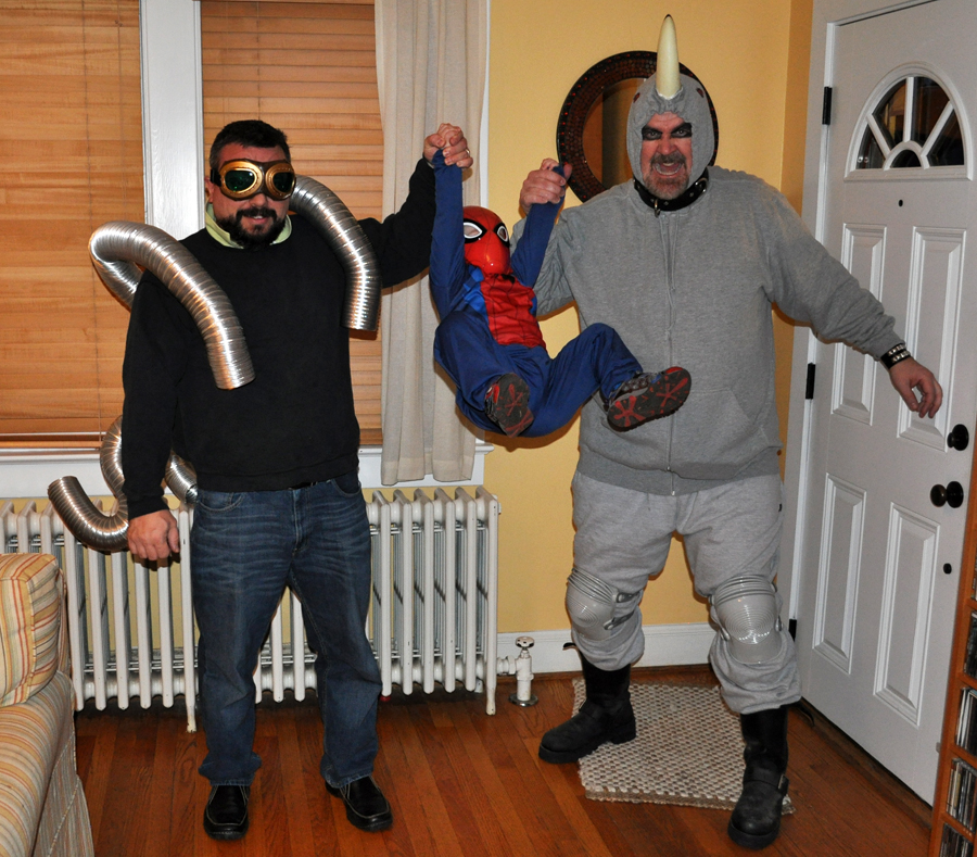 Spider-Man Doc Ock and Rhino from the Spider-Man films & Movie-Inspired Costumes: Family Edition   Fandango