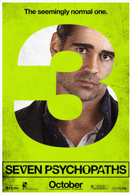 Exclusive: 'Seven Psychopaths' Colin Farrell Poster Premiere!