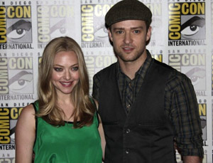 Amanda Seyfried and Justin Timberlake for In Time.