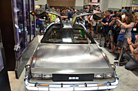 The DeLorean at Comic-Con.