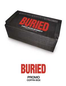 'Buried' novelty coffin