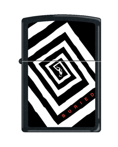 'Buried' branded zippo lighter