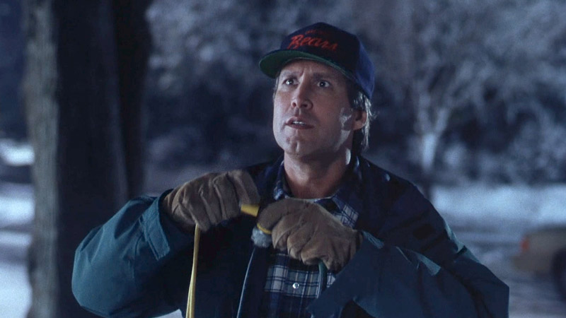 Chevy Chase in National Lampoon's Christmas Vacation