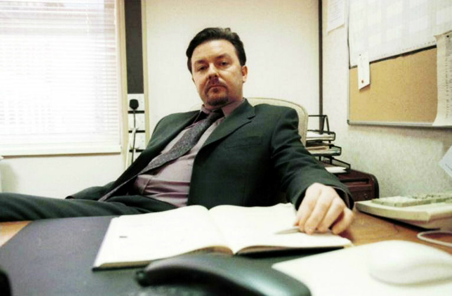 Life on the Road: Ricky Gervais will reprise his role as David Brent in Life on the Road, based on The Office (above), the British TV show he cocreated.