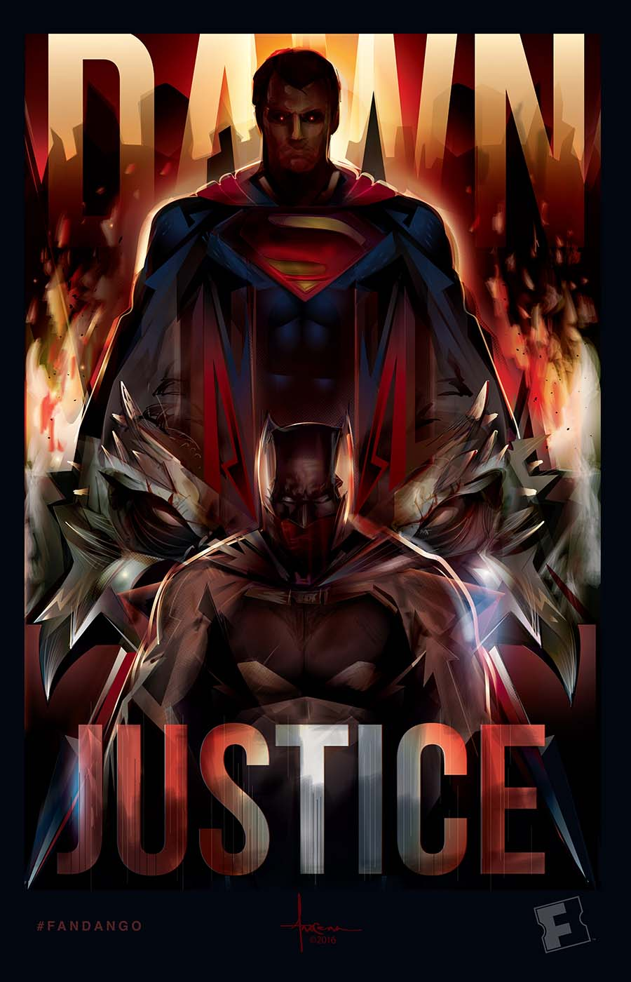 EXCLUSIVE ARTWORK Batman V Superman Dawn Of Justice