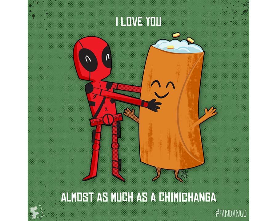 Exclusive Artwork Deadpool Valentines Fandango