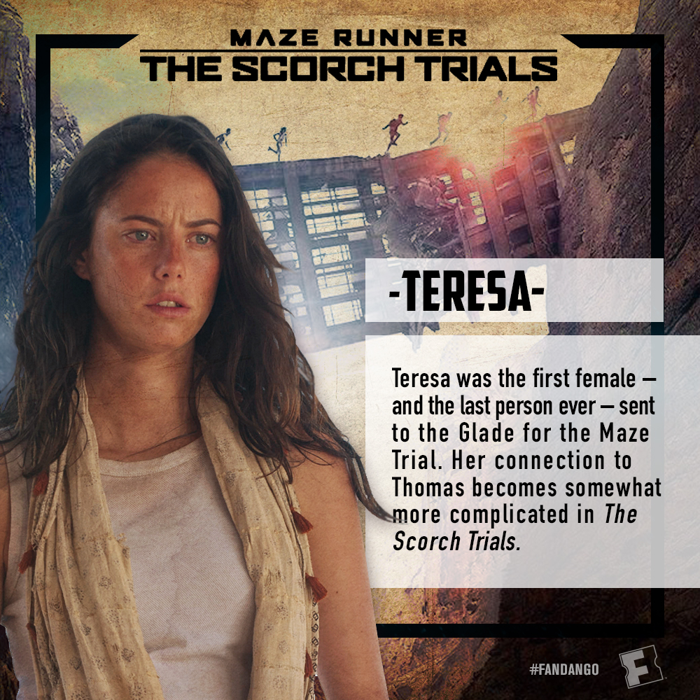 maze runner the scorch trials character cards fandango
