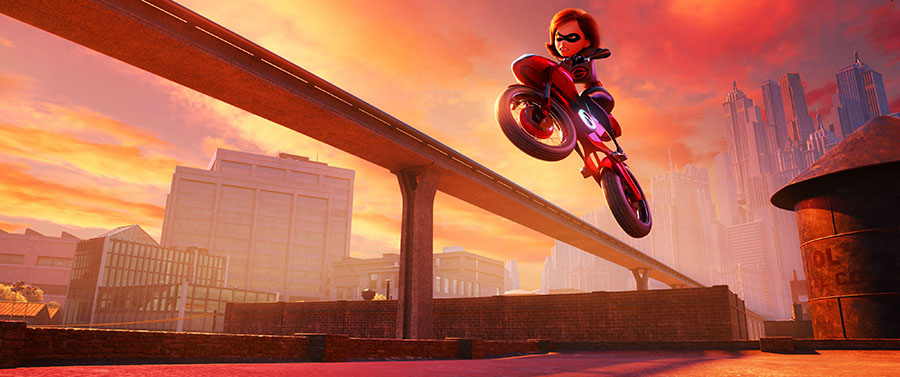 Elastigirl in Incredibles 2