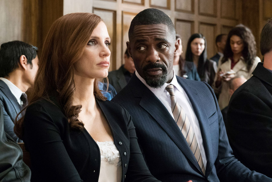 Jessica Chastain Idris Elba Molly's Game
