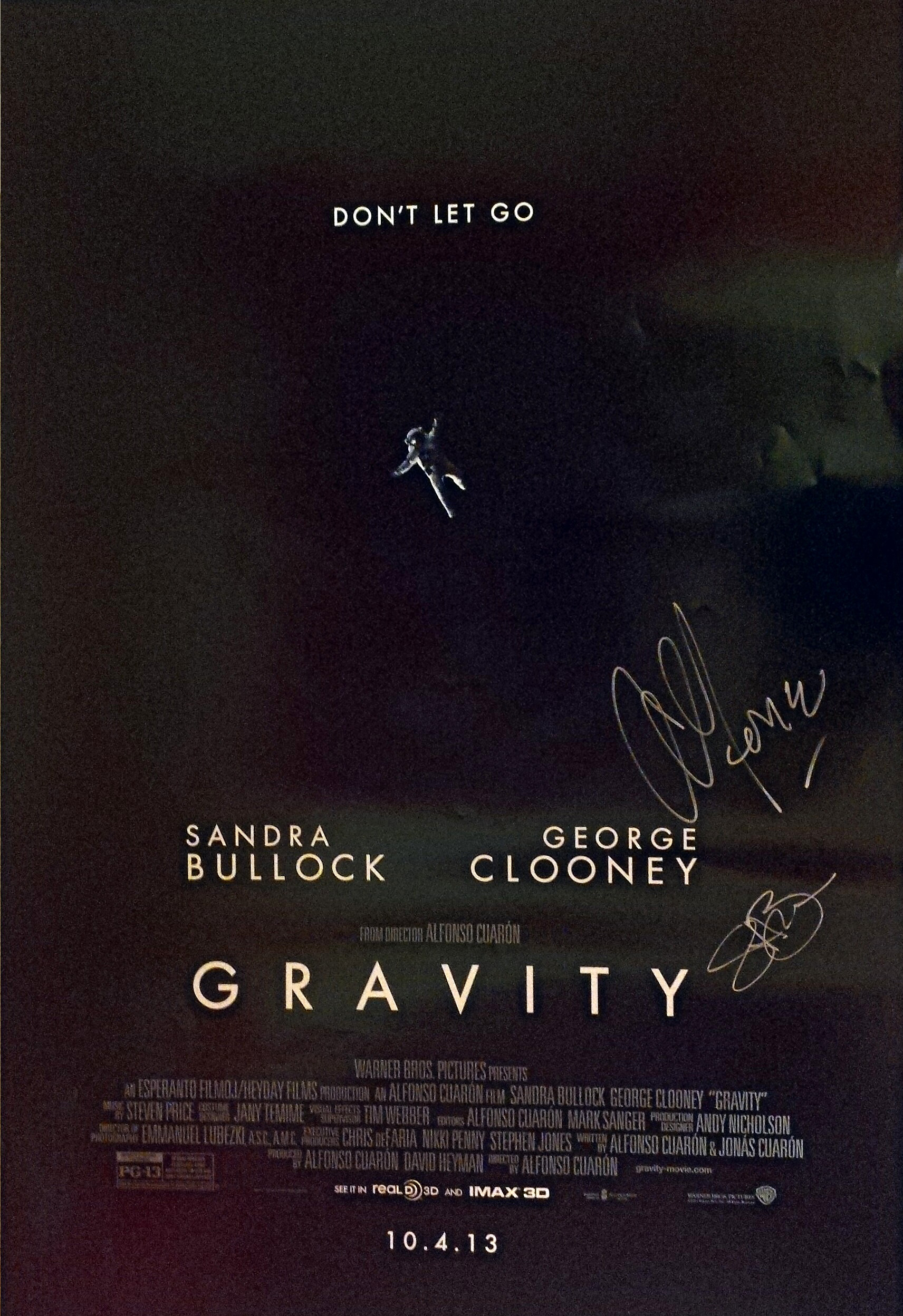 Countdown: Win a Signed 'Gravity' Poster by Alfonso Cuaron ...