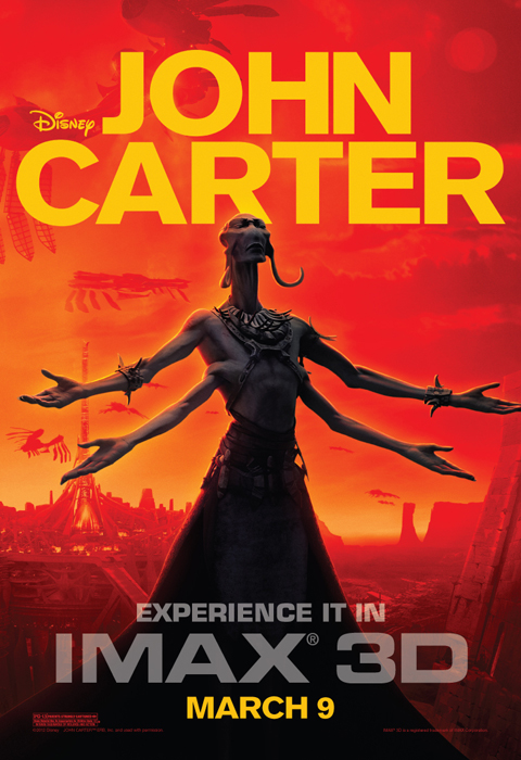 Exclusive: 'John Carter' IMAX 3D poster premiere