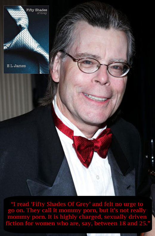 stephen king takes on twilight fifty shades of grey