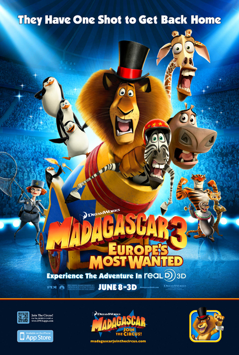 Exclusive: 'Madagascar 3 RealD 3D' Poster Premiere!