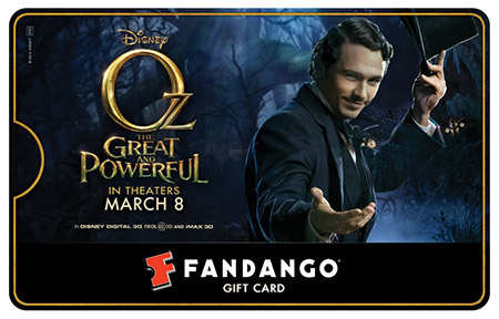 James Franco Oz Fandango Gift Card