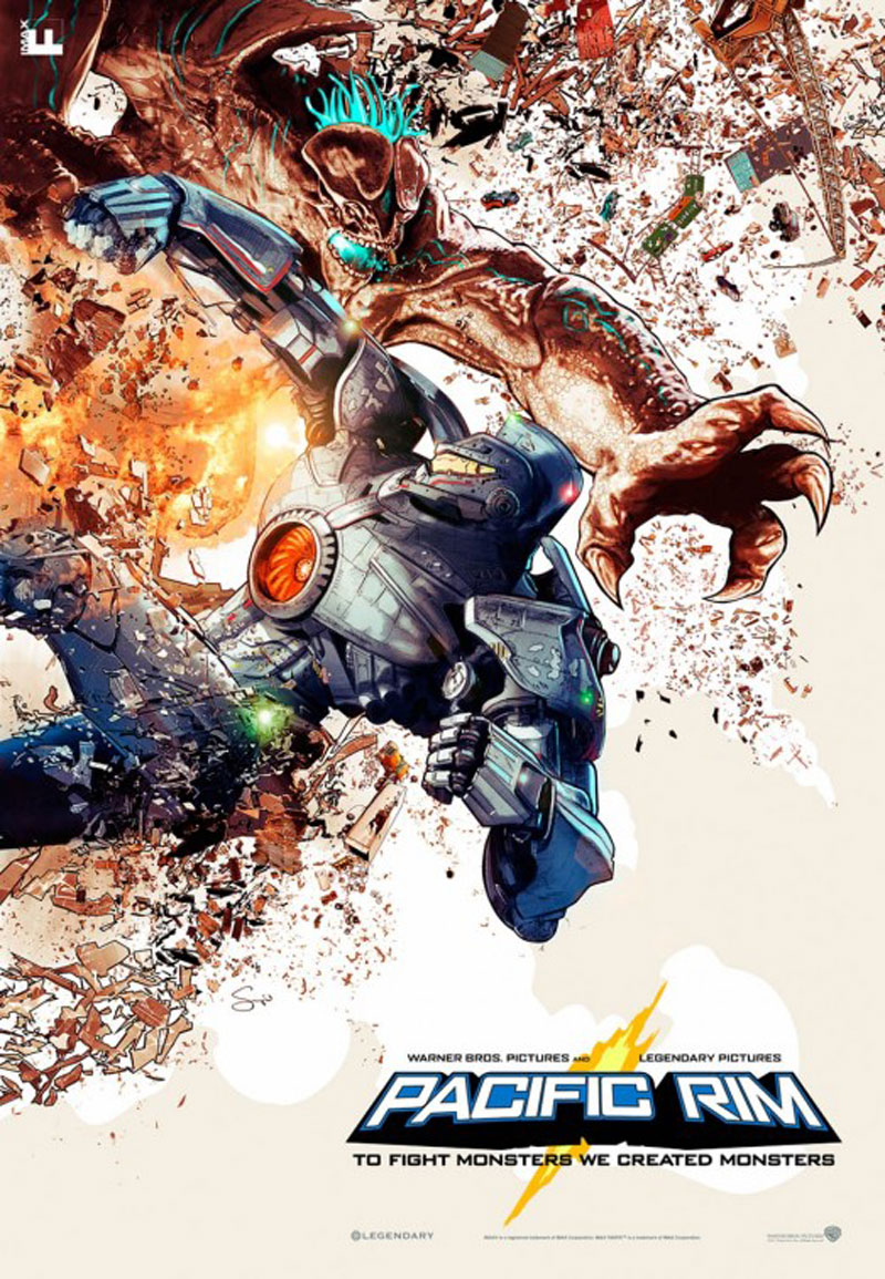 Pacific Rim opens July 12   Pacific Rim Gipsy Danger Poster