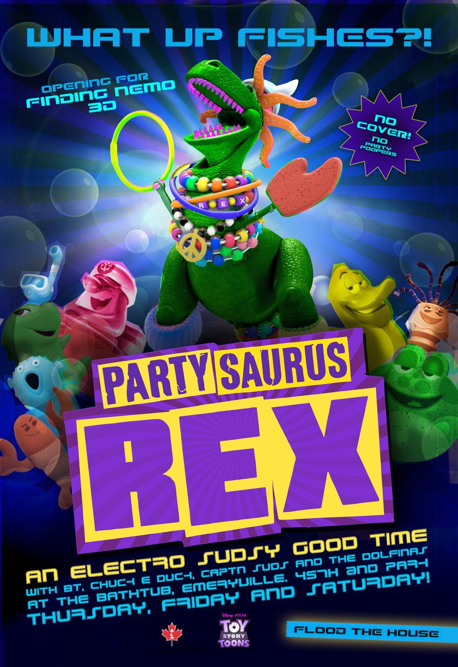 Exclusive Partysaurus Rex Poster Premiere Fandango