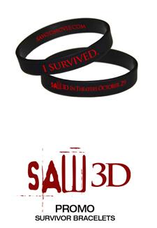 'Saw 3D' bracelets