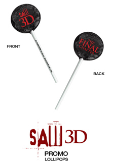 'Saw 3D' lollipops