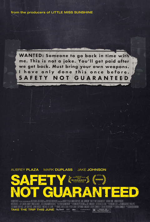 Exclusive: 'Safety Not Guaranteed' Poster Premiere!